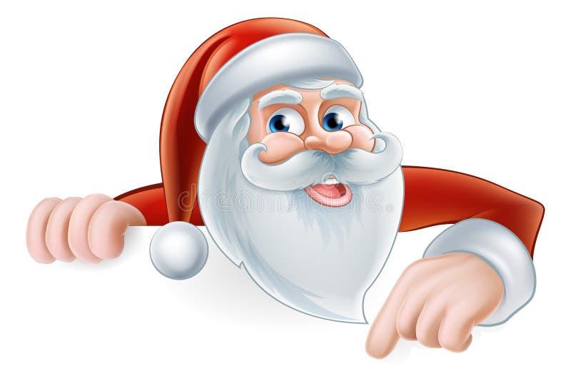 Historieta Santa Pointing ilustración del vector
