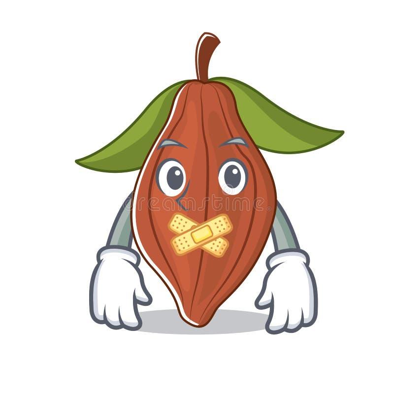 Historieta silenciosa de la mascota de la haba del cacao ilustración del vector