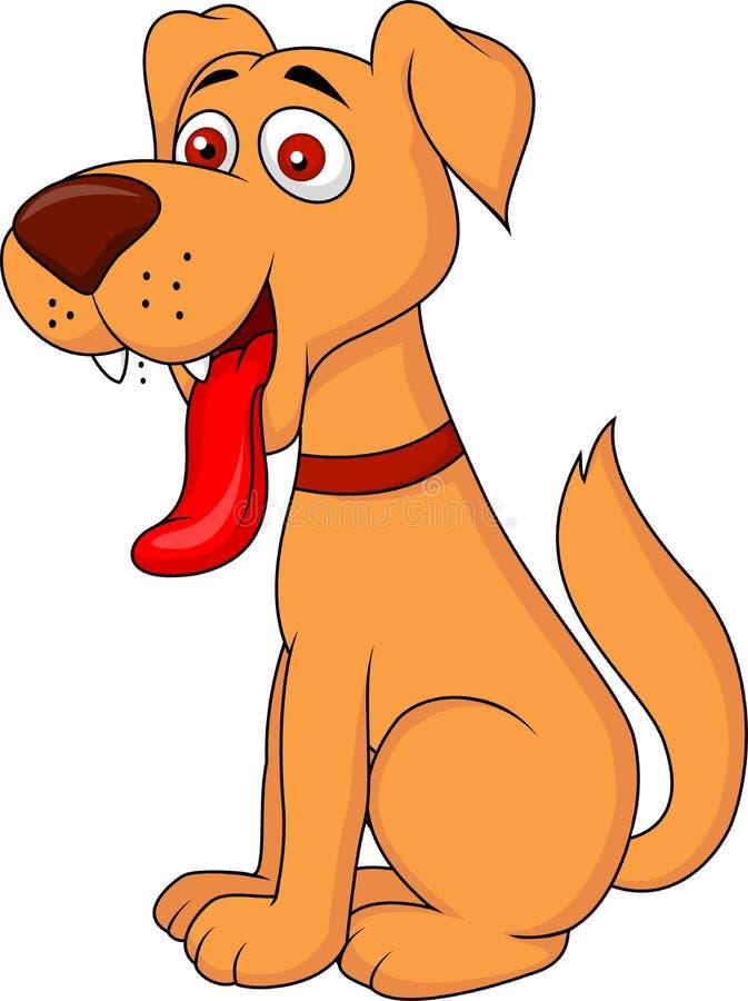 Historieta sonriente del perro libre illustration