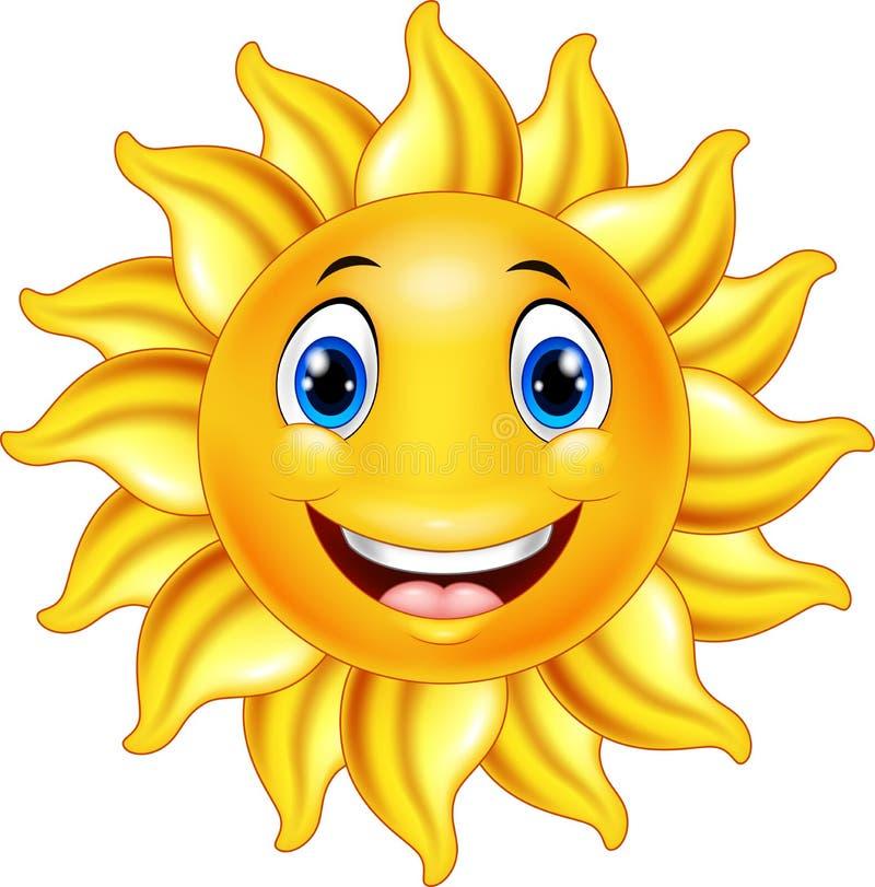 Historieta sonriente linda del sol libre illustration