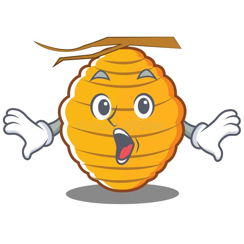 Historieta sorprendida del carácter de la colmena de la abeja stock de ilustración
