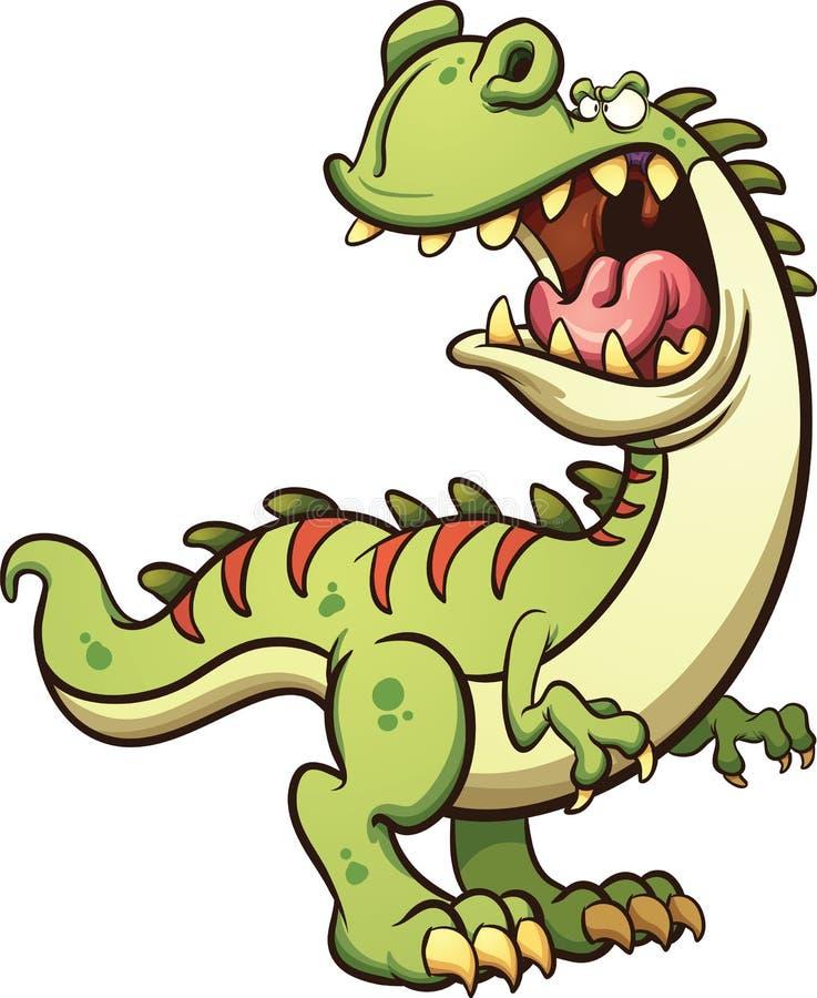 Historieta T-rex stock de ilustración