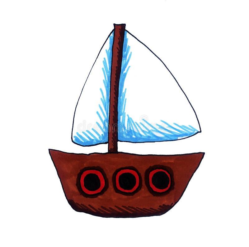 Historieta Toy Ship de la fantasía ilustración del vector