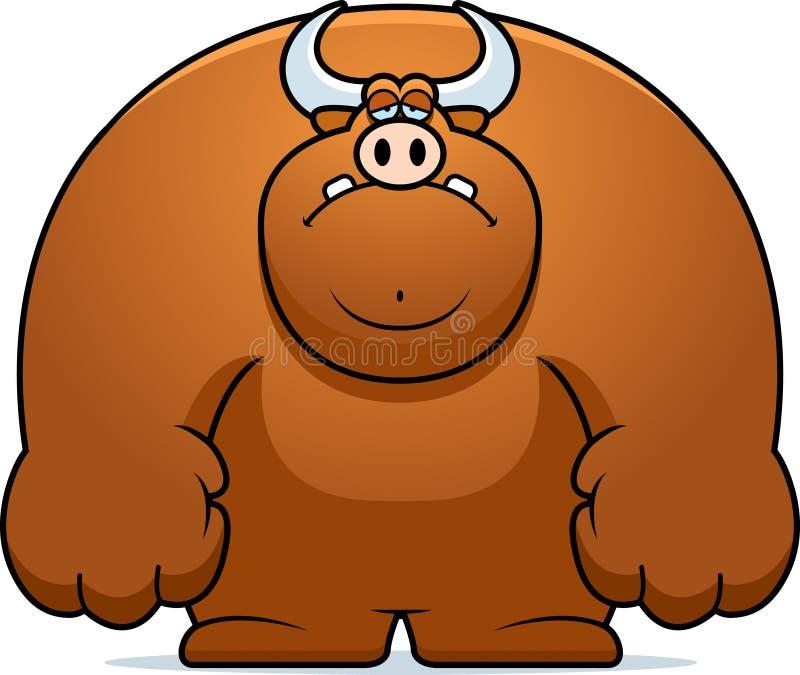 Historieta triste Bull libre illustration