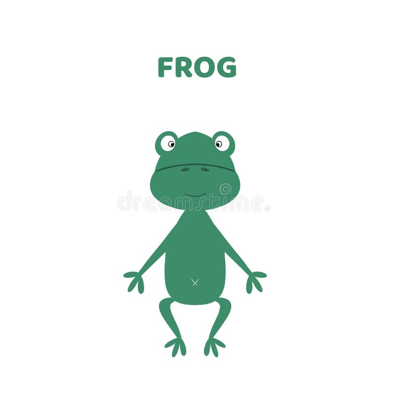 Historieta una rana linda y divertida libre illustration