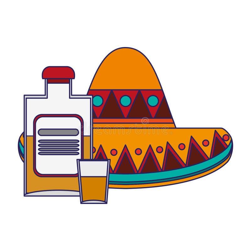 Historietas de la cultura de México libre illustration