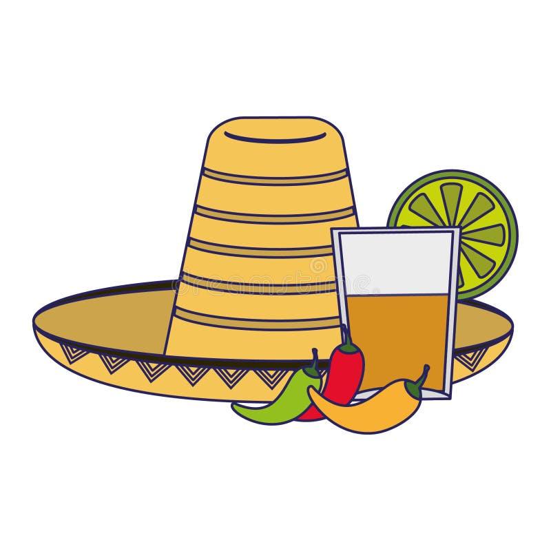 Historietas de la cultura de México ilustración del vector