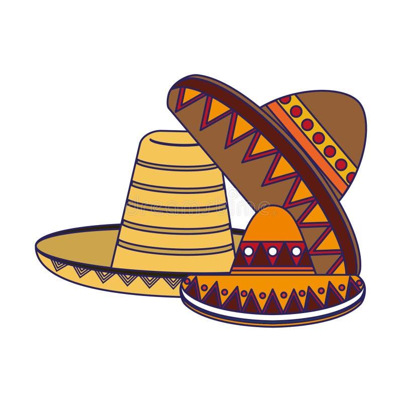 Historietas de la cultura de México stock de ilustración
