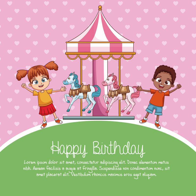 Historietas de la tarjeta del feliz cumpleaños libre illustration
