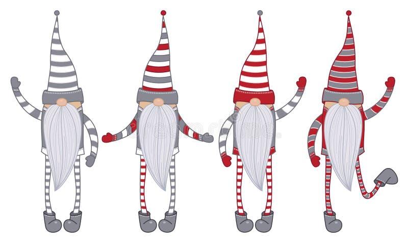 Historietas de los gnomos del vector aisladas libre illustration