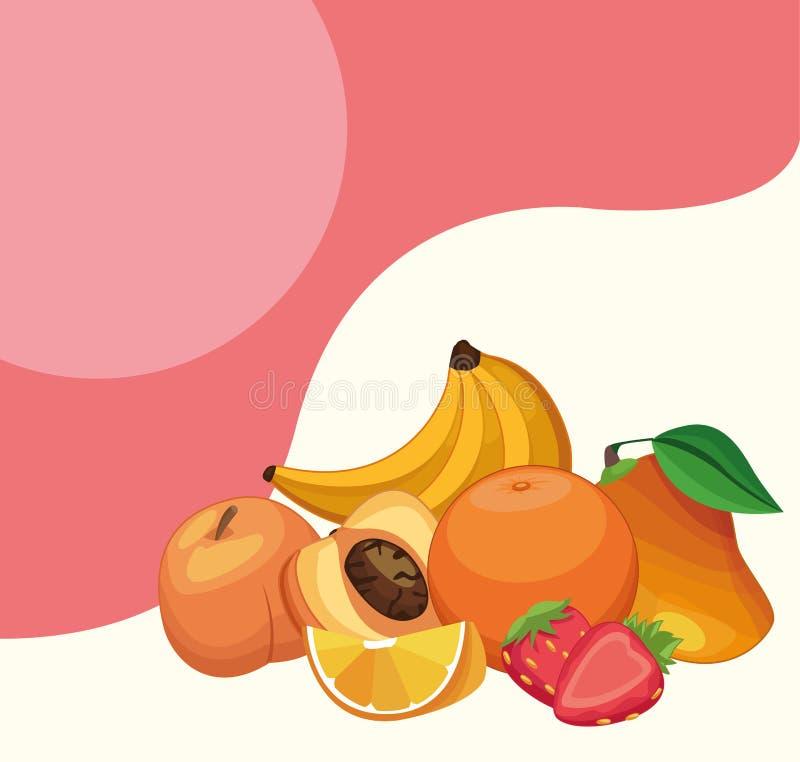 Historietas deliciosas de las frutas ilustración del vector