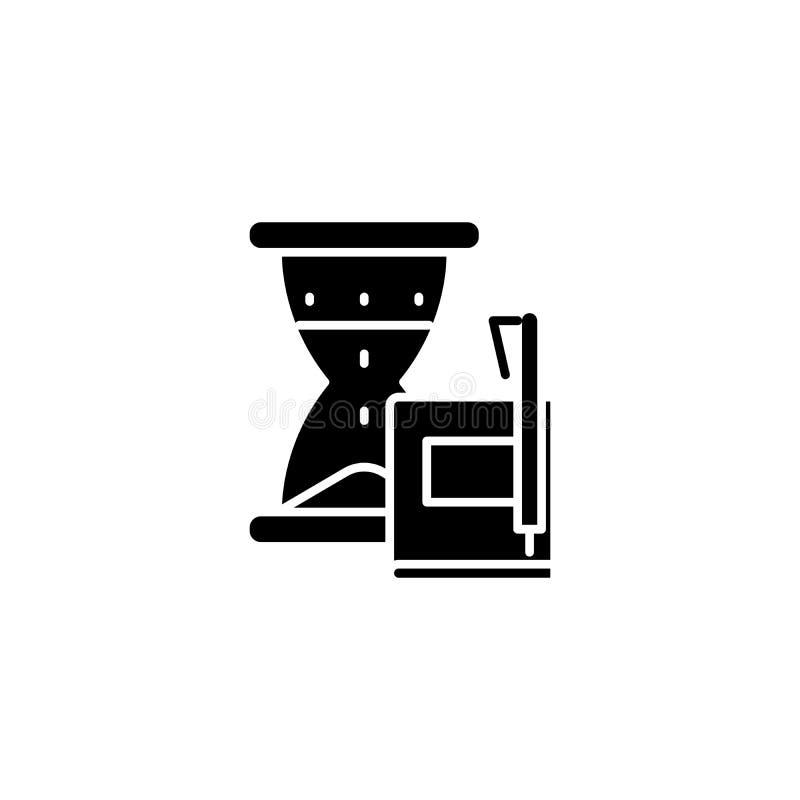 Historii ikony podległy czarny pojęcie Historia podległy płaski wektorowy symbol, znak, ilustracja ilustracji