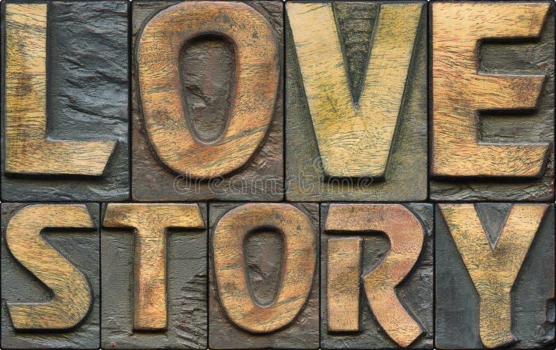 Historii miłosnej letterpress zdjęcie royalty free