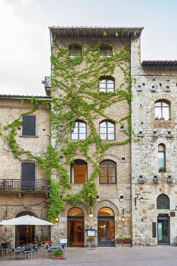 Historiical building in San Gimignano,Tuscany, Italy, Europe royalty free stock image