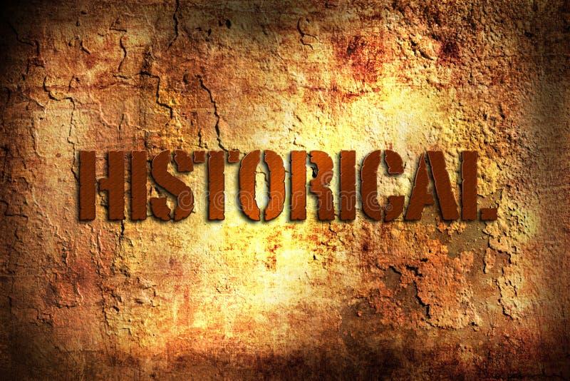 Historique photographie stock libre de droits