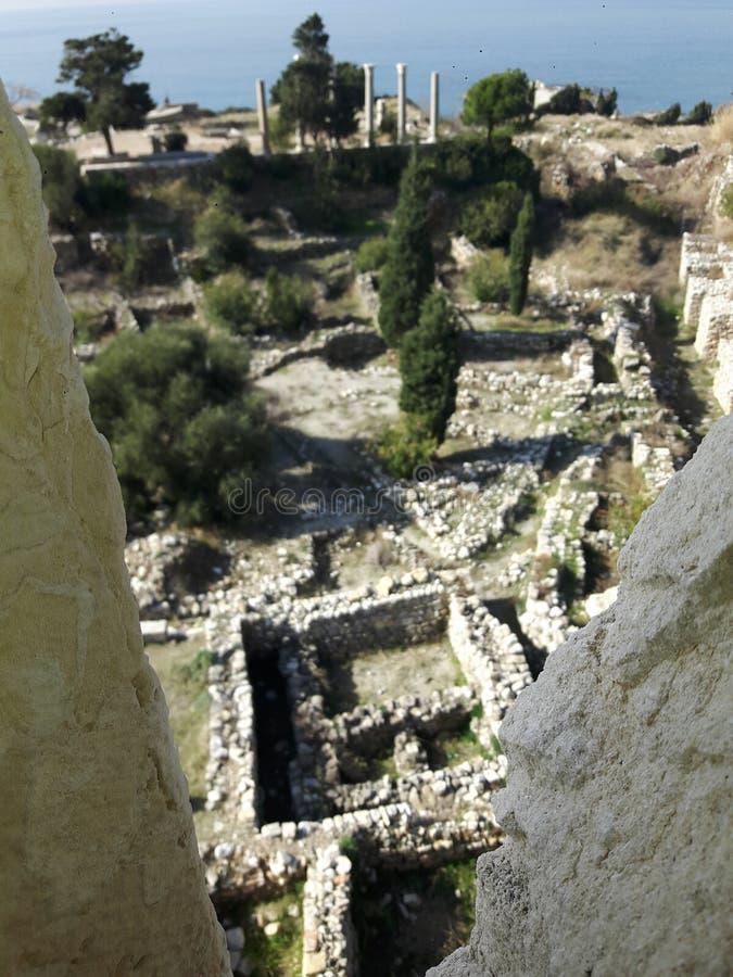 historique romain de jbeil photos libres de droits