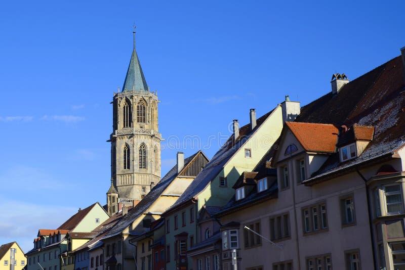 Historisch architecturaal centrum van Rottweil, Duitsland royalty-vrije stock afbeeldingen