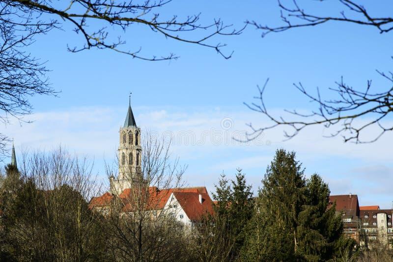 Historisch architecturaal centrum van Rottweil, Duitsland stock foto's