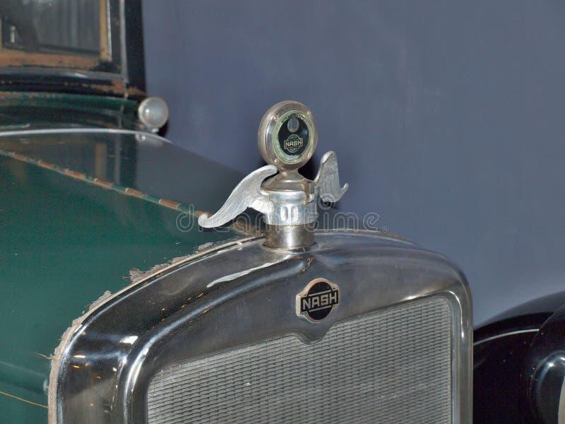 Historisch auto overledene merk NASH, Zuid-Bohemen royalty-vrije stock fotografie