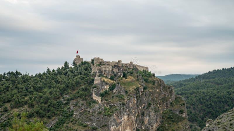 Historisch Boyabat-Kasteel in Sinop-stad, Turkije royalty-vrije stock foto's