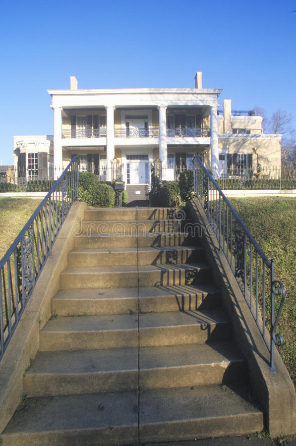 Historisch Cedar Grove Mansion in Vicksburg, lidstaten royalty-vrije stock afbeeldingen
