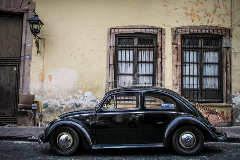 Historisch Centrum, Eenzame Kever, Queretaro, Mexico royalty-vrije stock fotografie