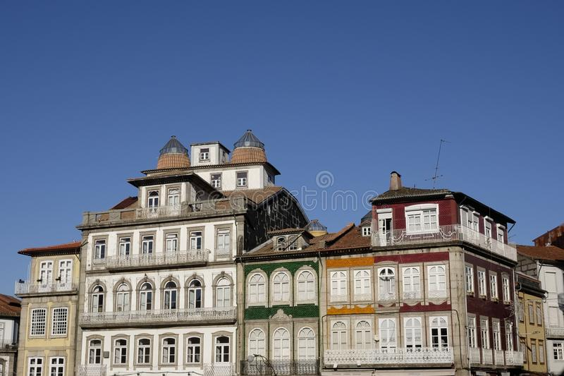 Historisch centrum in guimaraes royalty-vrije stock fotografie