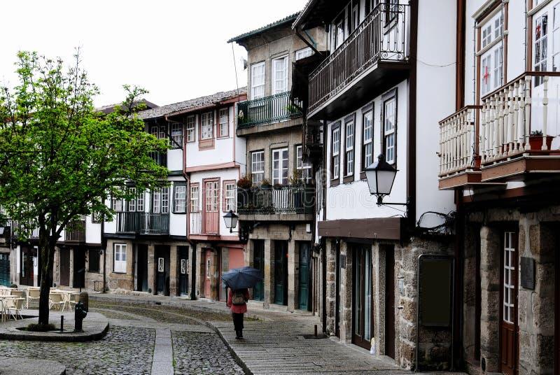 Historisch centrum Guimaraes stock afbeeldingen