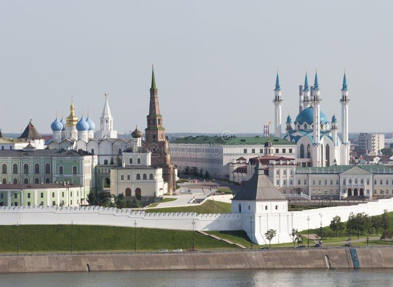 Historisch centrum in Kazan royalty-vrije stock foto's
