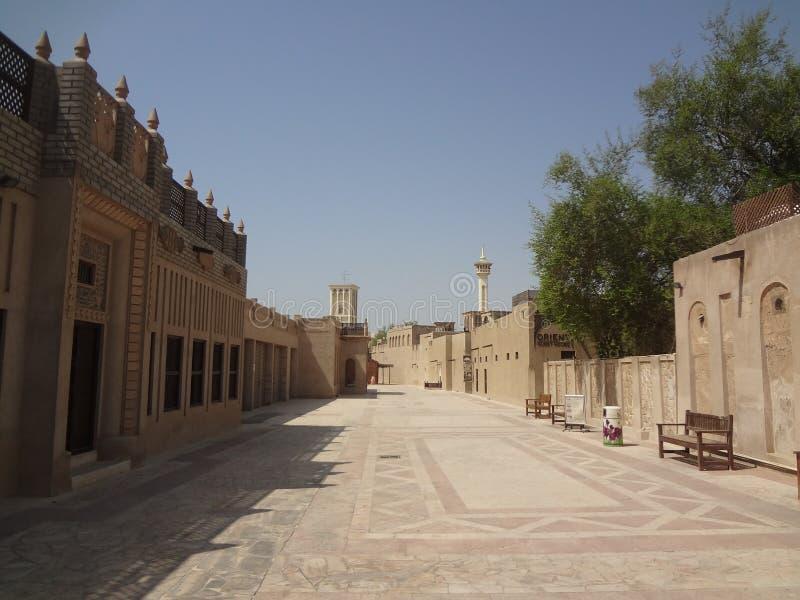 Historisch centrum van Doubai royalty-vrije stock afbeeldingen