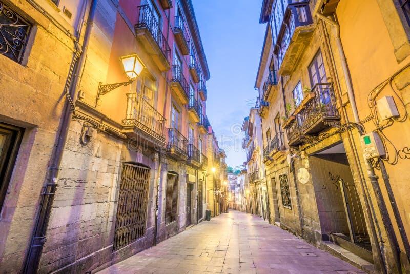 Historisch Centrum van Oviedo stock afbeelding
