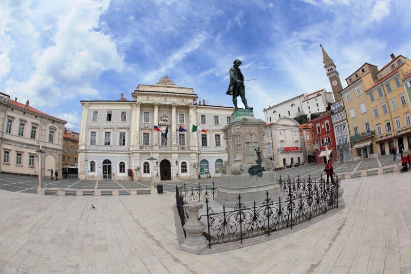 Historisch centrum van Piran royalty-vrije stock afbeeldingen