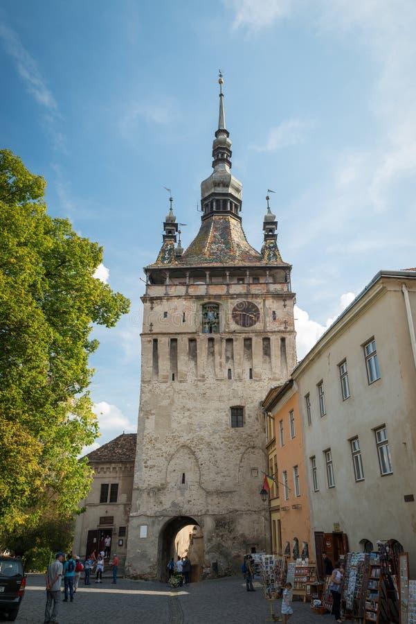 Historisch centrum van Sighisoara, Roemenië royalty-vrije stock foto's
