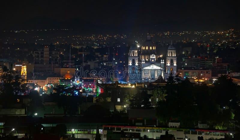 Historisch centrum van Touca mexico stock afbeelding