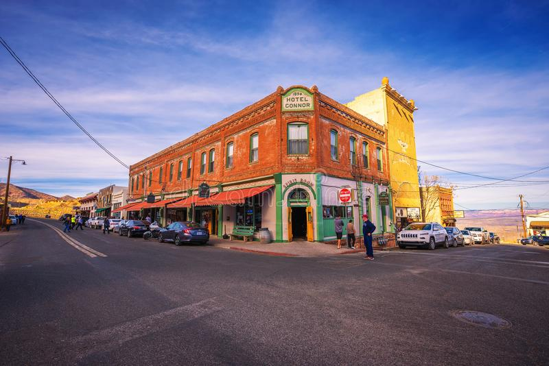 Historisch Connor Hotel in Jerome, Arizona royalty-vrije stock afbeelding