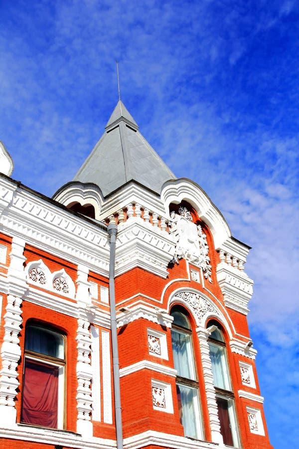 Historisch dramatheater in Samara royalty-vrije stock foto