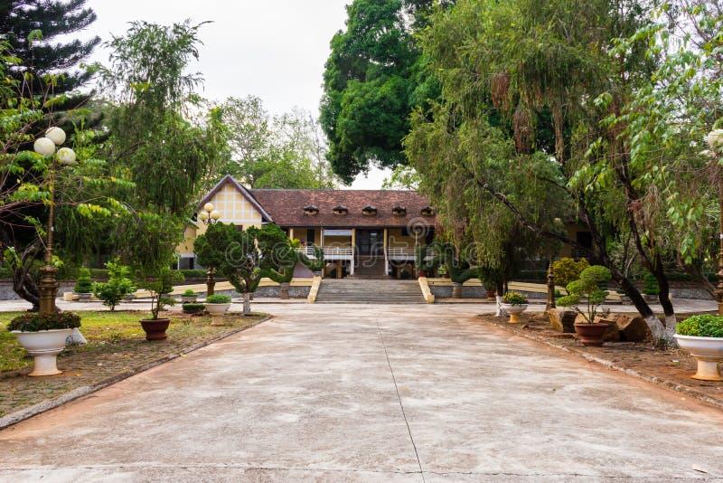 Historisch en het overblijfsel ( Bao Dai palace) , Documentair Hoofdartikel, de stad van Buon Ma Thuot, Dak-LAK, Vietnam royalty-vrije stock afbeelding