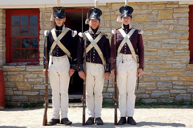 Historisch Fort Snelling stock afbeelding