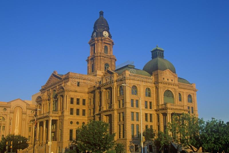Historisch gerechtsgebouw in ochtendlicht, Voet Waarde, TX stock foto's