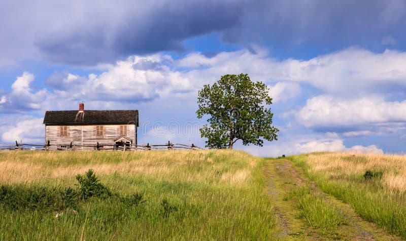 Historisch Henry House Hill Manassas Battlefield Virginia royalty-vrije stock foto's