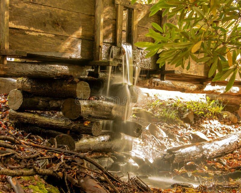 Historisch het waterras van de Kabelmolen in Cades-Inham royalty-vrije stock foto
