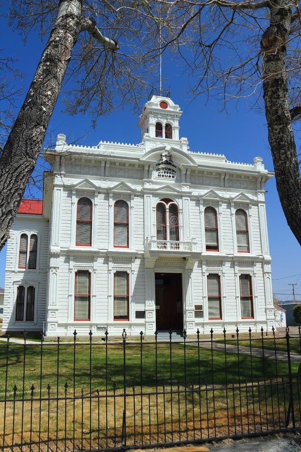 Historisch Hof Huis in Bridgeport, Califorinia royalty-vrije stock foto