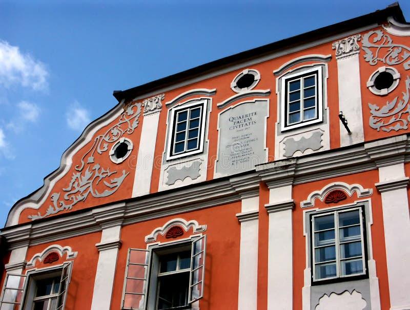 Historisch huis royalty-vrije stock afbeeldingen