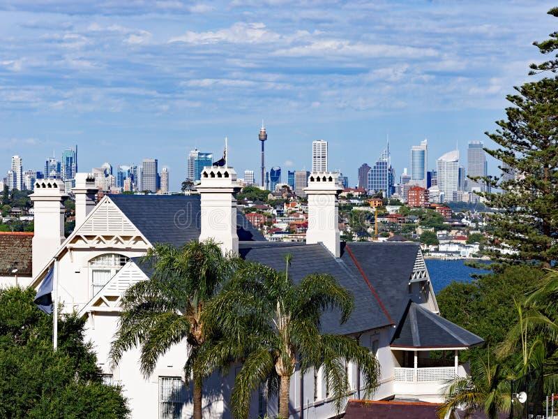 Historisch Huis, Vaucluse, Sydney, Australië stock fotografie