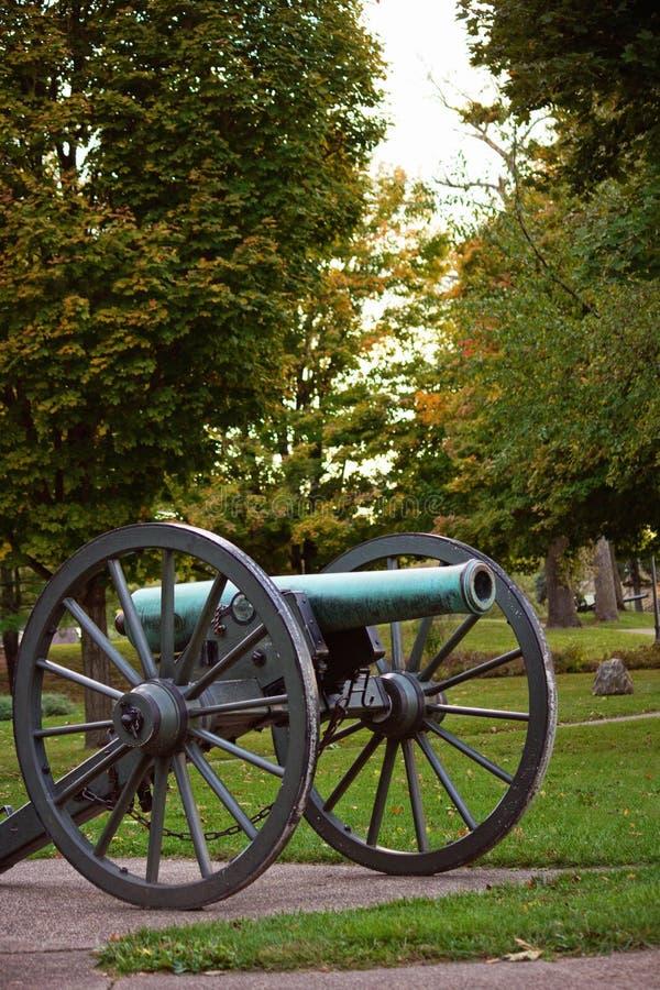 Historisch kanon in Grant Park royalty-vrije stock afbeelding