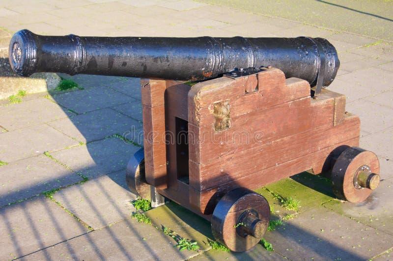 Historisch Kanon op Wielen in Londen in Engeland stock fotografie
