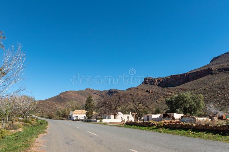 Historisch Karoopoort-landbouwbedrijfhuis op weg R355 royalty-vrije stock foto's