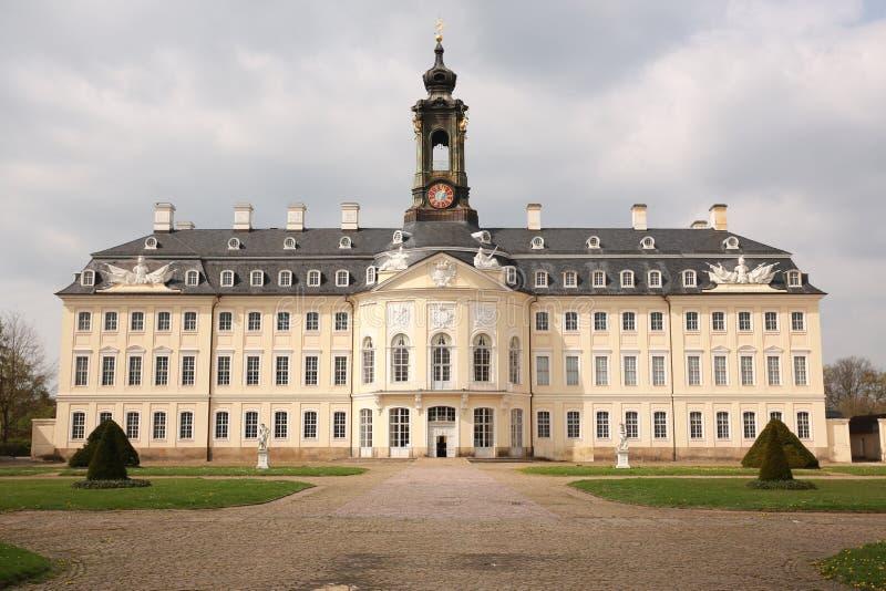 Historisch Kasteel Hubertusburg in Saksen, Duitsland royalty-vrije stock foto's