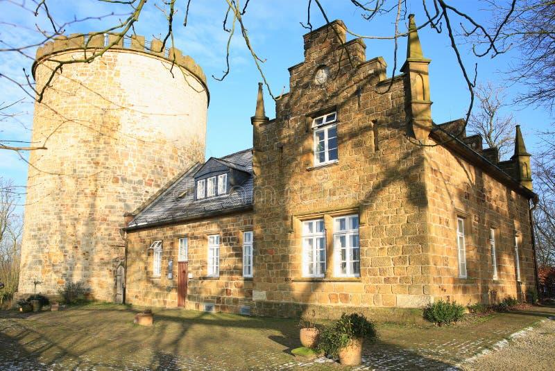 Historisch Kasteel Ravensberg in Borgholzhausen, Westfalen, Duitsland royalty-vrije stock afbeelding