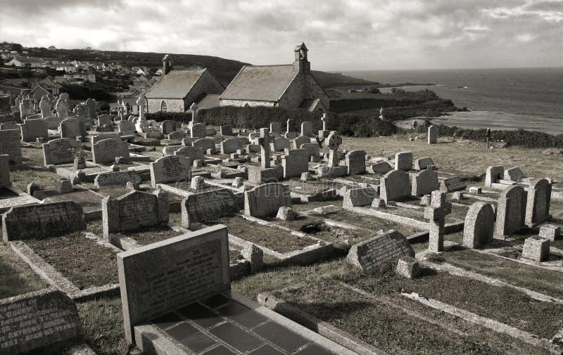 Historisch kerkhof stock afbeelding